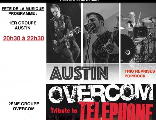 Concert Fête de la Musique avec Overcom et Austin